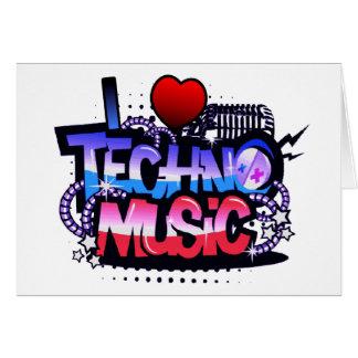 I Herz Techno Musik Grußkarte