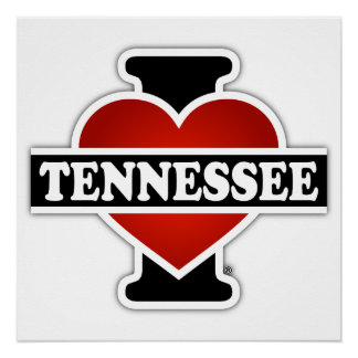 I Herz Tennessee Poster