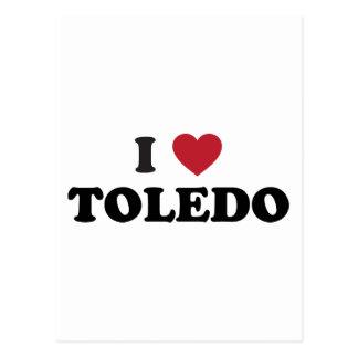 I Herz Toledo Ohio Postkarte