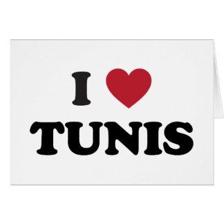 I Herz Tunis Tunesien Karte