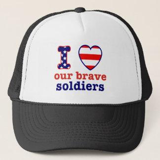 I Herz unsere tapferen Soldaten Truckerkappe