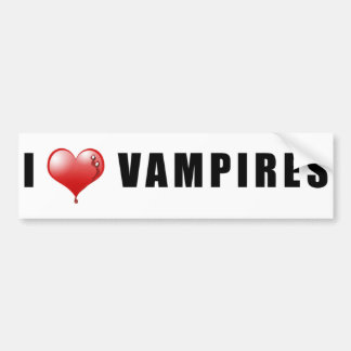 I Herz-Vampire Autoaufkleber