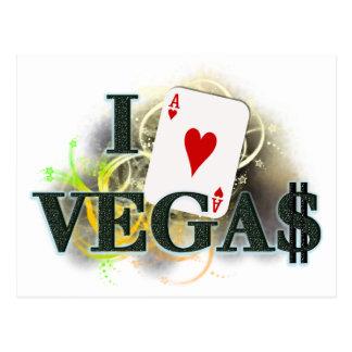 I Herz Vegas Postkarte
