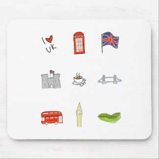 I Herz Vereinigtes Königreich, britische Liebe, Mousepad