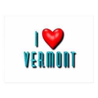 I Herz Vermont Postkarte