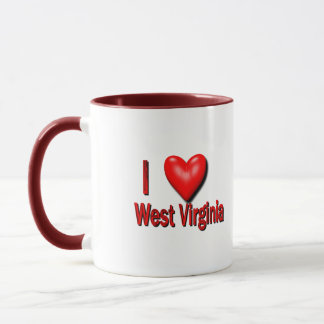 I Herz West Virginia Tasse