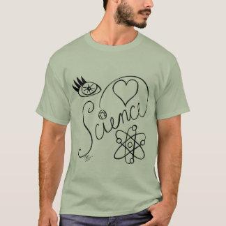 I Herz-Wissenschafts-Hand gezeichneter T-Shirt