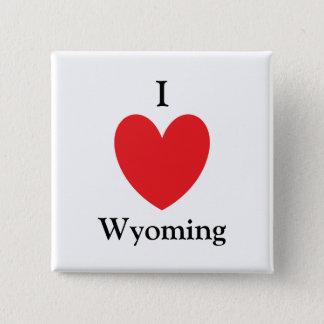 I Herz-Wyoming-Knopf Quadratischer Button 5,1 Cm