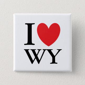 I Herz Wyoming Quadratischer Button 5,1 Cm
