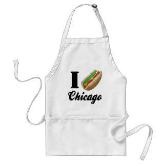 I Hotdogs Liebe-Chicagos Schürze