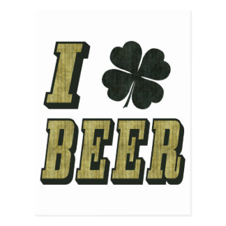 I Kleeblatt-Bier Postkarte