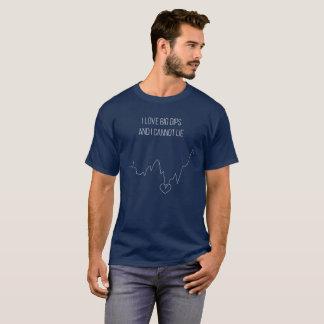 I können Liebe-große Bäder und ich nicht liegen T-Shirt