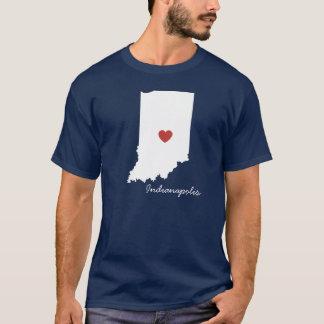 I kundengerechte Stadt Herz-Indianas T-Shirt