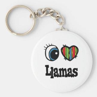 I Lamas der Liebe-(Herz) Schlüsselanhänger