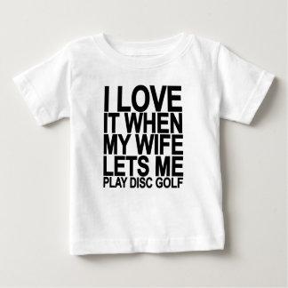 I LÄSST Liebe meine Ehefrau SPIEL-DISC GOLF.png Baby T-shirt