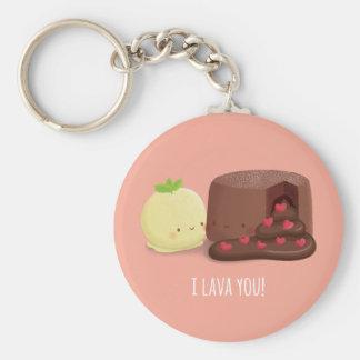 I Lava Sie Schokoladen-flüssige Kuchen-Eiscreme Schlüsselanhänger