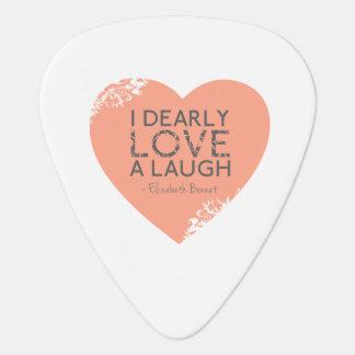 I lieb Liebe ein Lachen - Zitat Janes Austen Plektrum
