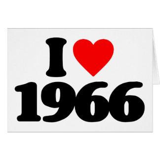 I LIEBE 1966 KARTE