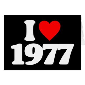 I LIEBE 1977 GRUßKARTE