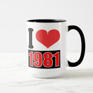 I Liebe 1981 - Tassen