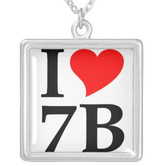I Liebe 7B - Siebenbürgen, Siebenbürgen, Ardeal Halskette Mit Quadratischem Anhänger