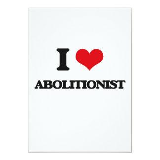 I Liebe-Abolitionist 12,7 X 17,8 Cm Einladungskarte