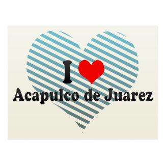 I Liebe Acapulco de Juarez, Mexiko Postkarte