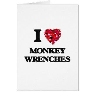 I Liebe-Affe-Schlüssel Grußkarte