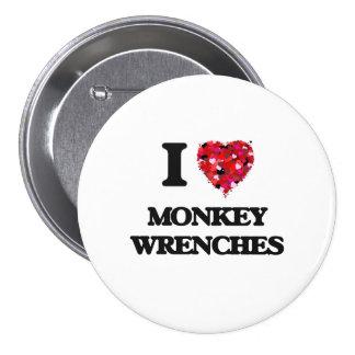 I Liebe-Affe-Schlüssel Runder Button 7,6 Cm