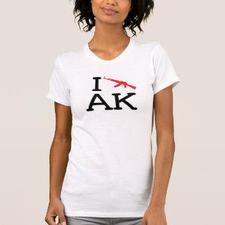 I Liebe AK - AK47 - Damen zerstörte Art T-Shirt