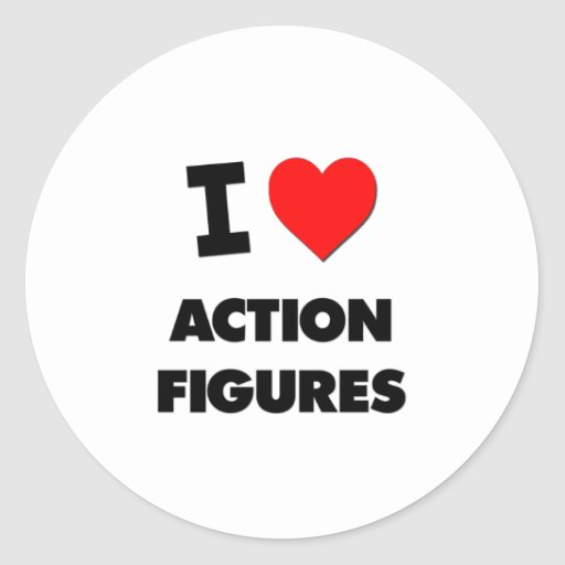 I Liebe-Aktions-Zahlen Runder Sticker