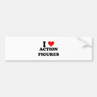 I Liebe-Aktions-Zahlen Autoaufkleber