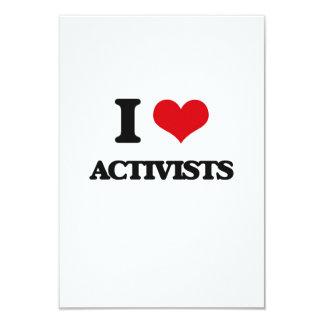 I Liebe-Aktivisten 8,9 X 12,7 Cm Einladungskarte