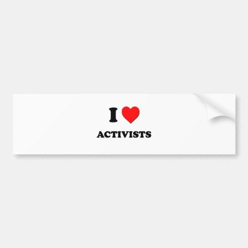 I Liebe-Aktivisten Auto Aufkleber