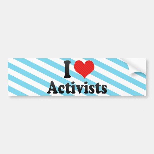 I Liebe-Aktivisten Auto Sticker