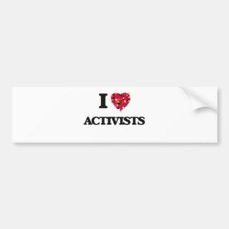 I Liebe-Aktivisten Autoaufkleber