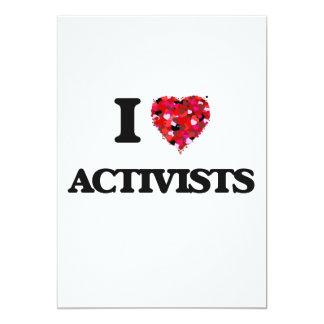 I Liebe-Aktivisten 12,7 X 17,8 Cm Einladungskarte