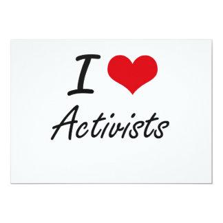 I Liebe-Aktivisten-künstlerischer Entwurf 12,7 X 17,8 Cm Einladungskarte