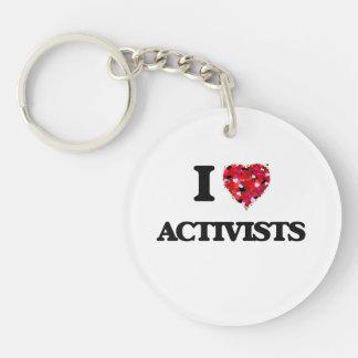 I Liebe-Aktivisten Einseitiger Runder Acryl Schlüsselanhänger