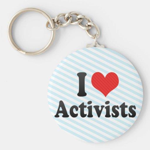 I Liebe-Aktivisten Schlüsselanhänger