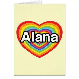 I Liebe Alana, Regenbogenherz Karte
