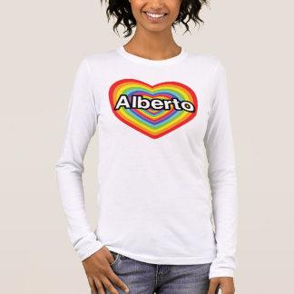 I Liebe Alberto, Regenbogenherz Langarm T-Shirt
