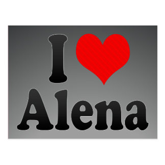I Liebe Alena Postkarte