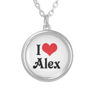 I Liebe Alex Versilberte Kette