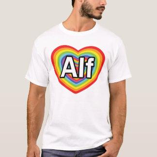 I Liebe Alf, Regenbogenherz T-Shirt