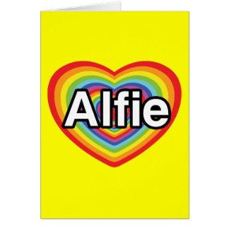 I Liebe Alfie, Regenbogenherz Karte