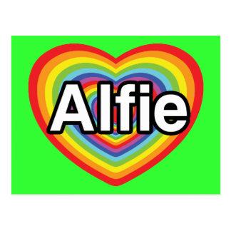 I Liebe Alfie, Regenbogenherz Postkarte