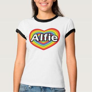 I Liebe Alfie, Regenbogenherz T-Shirt