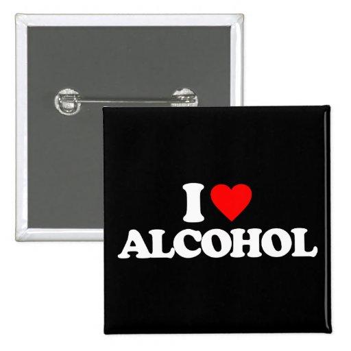 I LIEBE-ALKOHOL ANSTECKNADEL