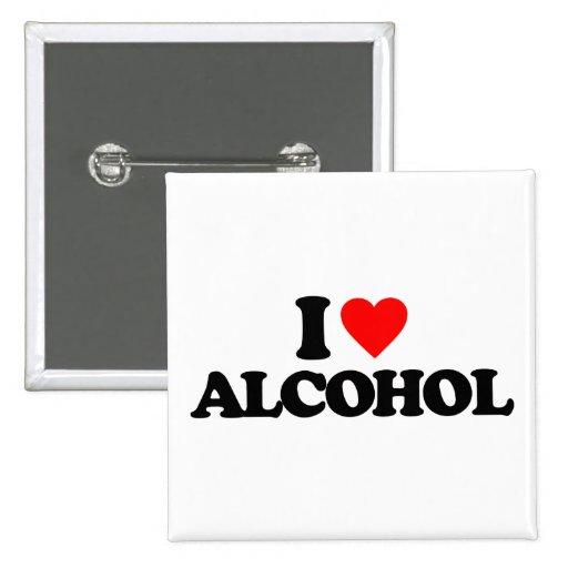 I LIEBE-ALKOHOL ANSTECKNADELBUTTONS